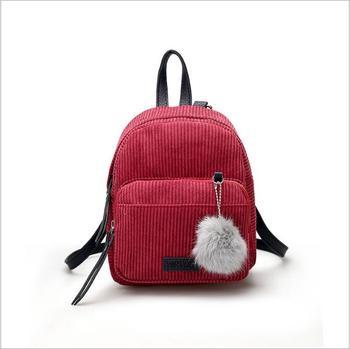 2c40cf26c6 sh20419a Korean style mini backpack girls fashion corduroy backpack