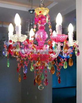 Multi color decorative crystal chandelier 808 6 buy colorful multi color decorative crystal chandelier 808 6 mozeypictures Choice Image