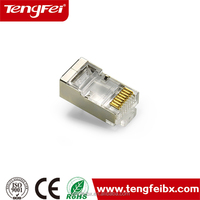 3-50u gold plated/Nickel plated CAT6 CAT6a FTP internet modular Plug/Connector
