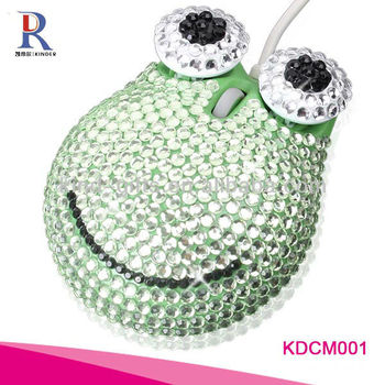 rhinestone animal shaped computer mouse