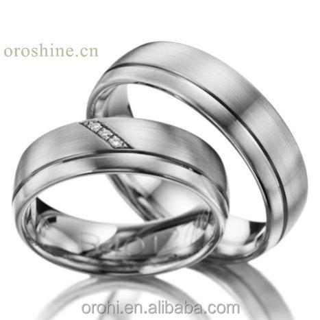 wedding jewelry plain wedding bands platinum PT950 rings for retailer wholesaler