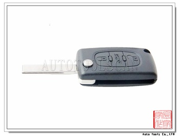 Car Key Model 407 For Peugeot Key Fob 433mhz 3 Button Id46 Chip ...