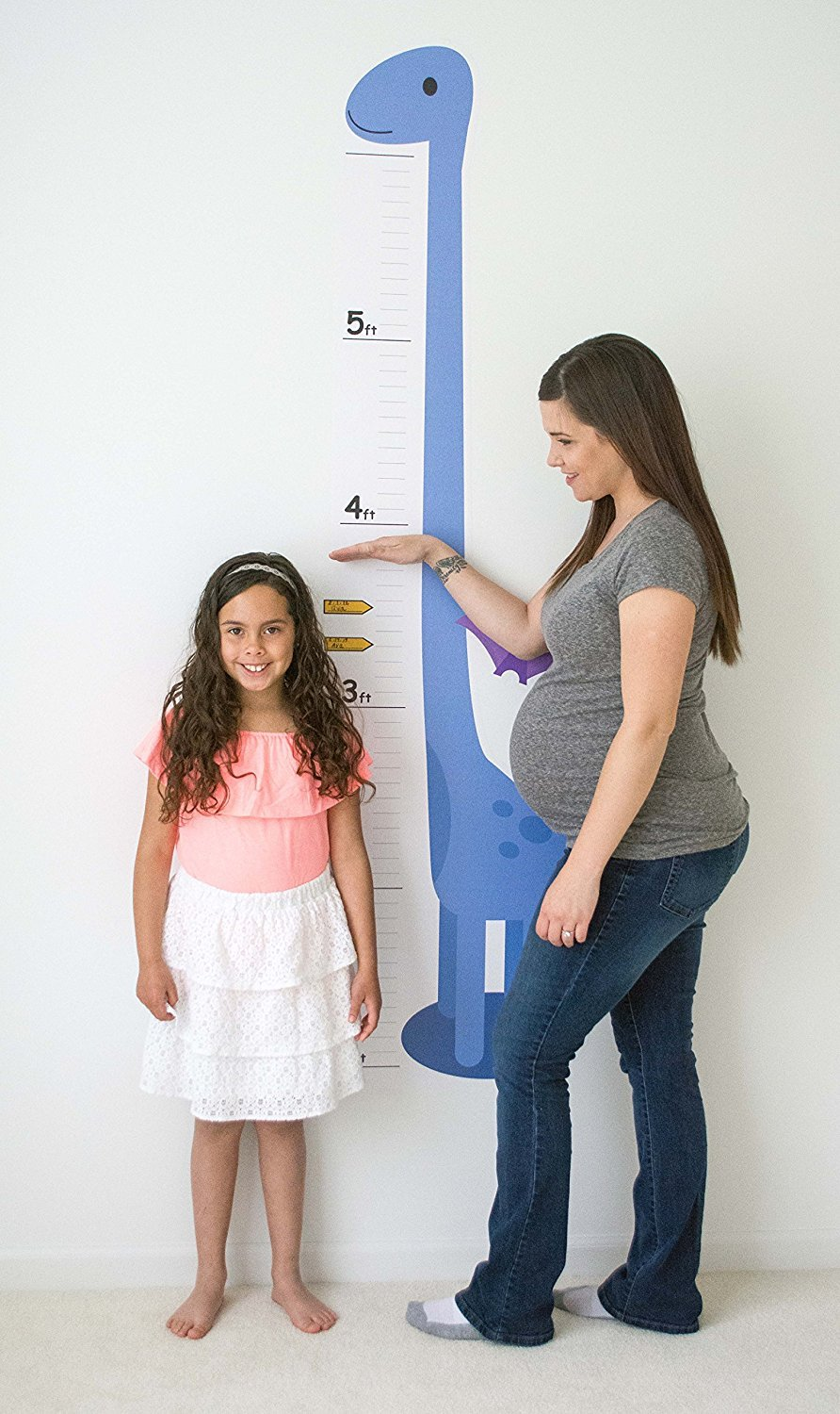 Oversize Planner by ABI Digital Solutions Height Chart For Kids - Dinosaur Growth Chart - Low-Tac Removable Adhesive