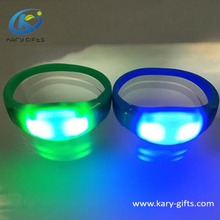 Concert Party Gebruik Siliconen LED Polsband Sound Activated LED Armband