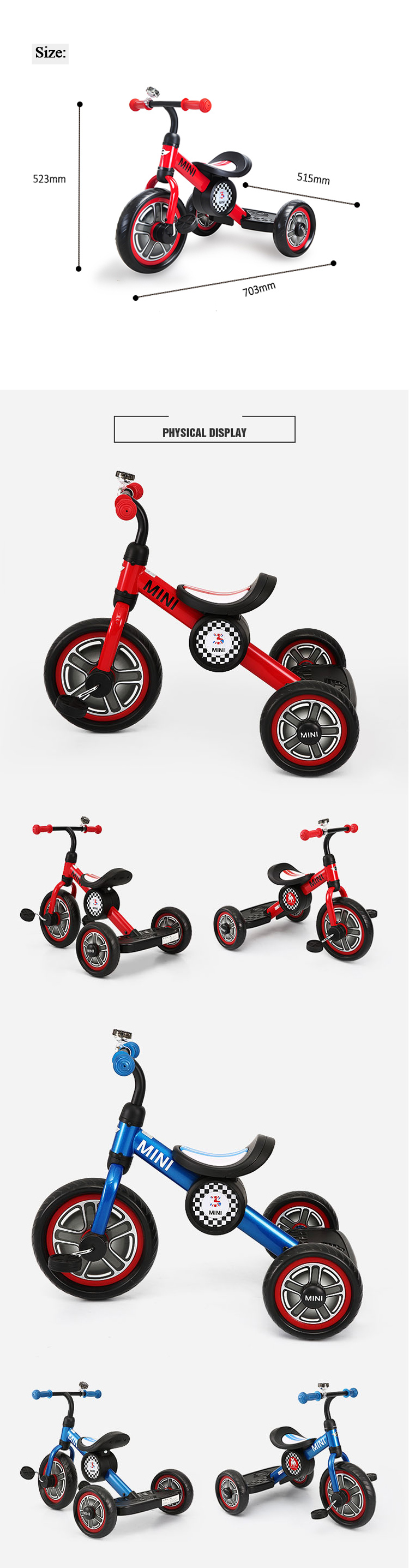 RASTAR toddler ride 3 wheels bike MINI kid tricycle