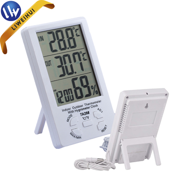 Exceptional Electronic Thermometer Humidity Meter House Thermometer With A Hook And  Bracket Best Digital Hygrometer TA298
