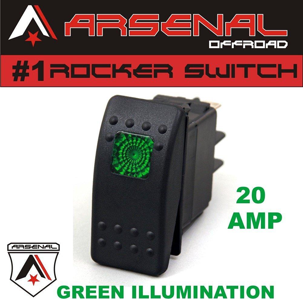 Buy Zombie Rocker Switch Kit By Arsenal Offroad Tm 40 Amp Relay Off Road Wiring Harness Kits 20 Green Light 4x4 Jeep Polaris Rzr Rapator Trucks Rv Utv Powersports