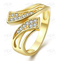 KZCR227 Brass Diamond Jewelry 18K Gold Engagement Ring