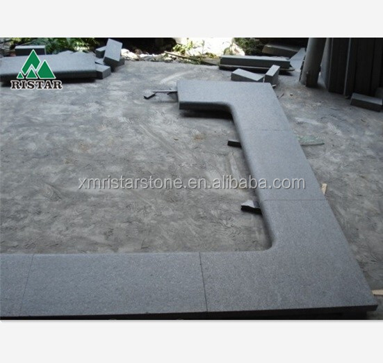 Cheap Black basalt G684 stone swimming pool edge tile