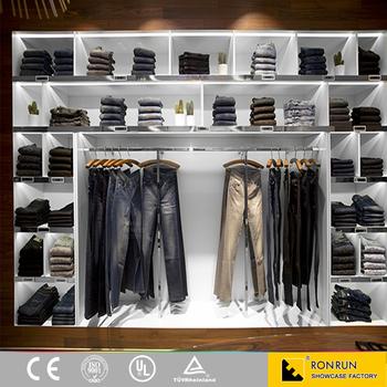 Modern Shop Furniture Garment Display Rack For Retail Garment Shop ...