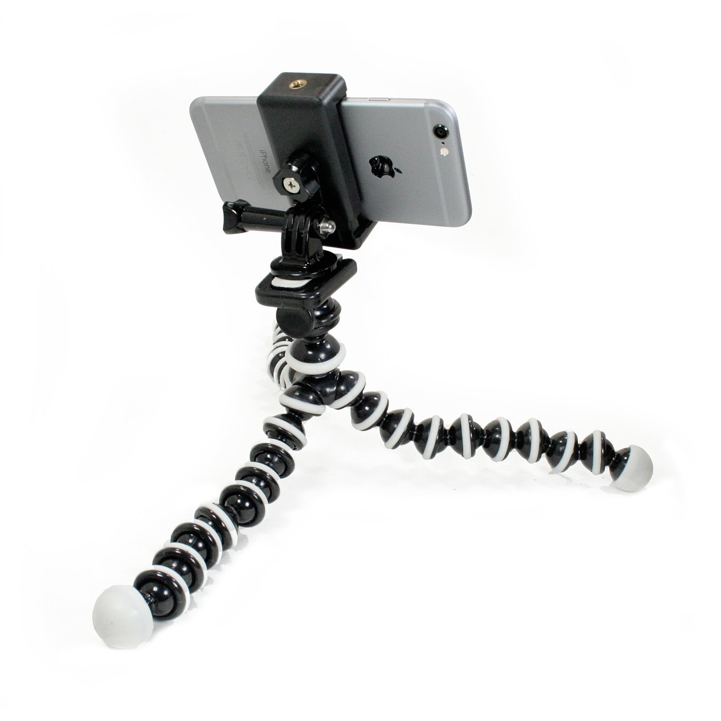 Livestream® Gear - Flexible Tripod with Rotatable Smartphone Clamp. Use for Video Recording, or Live Streaming on Periscope/Meerkat. Operable with Any Phone, or Use with GoPro Camera.