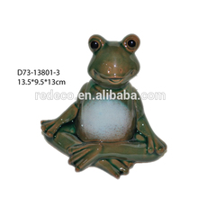 Rana famiglia seduti Gartendeko di ceramica 15x6x9cm 226748