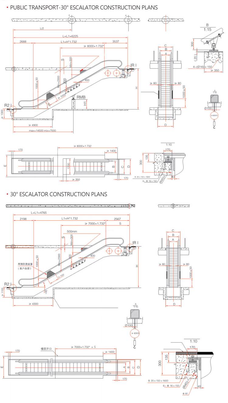 Zhujiang Fuji Apply To Outdoor Indoor Stainless Steel Electric Escalator Schematic 1