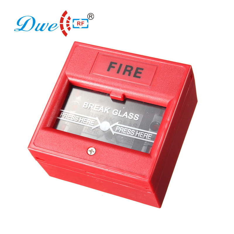 Wired security fire alarm emergency break glass exit release button