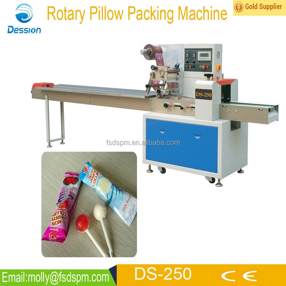 Automatic Pillow Type Bag Lollypop Packing <strong>Machine</strong> DS-250B