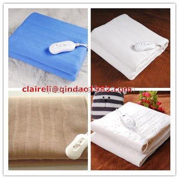 Colorful Temperature Adjule Electric Bed Warmer Warm Blanket