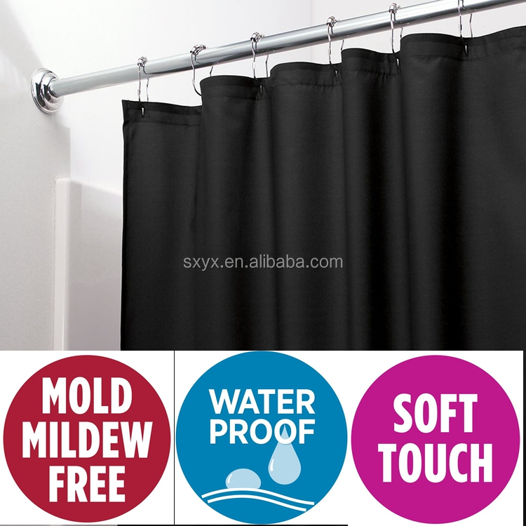 Mildew Resistant Fabric Shower Curtain Liner