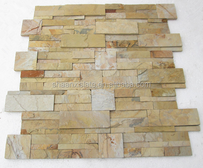 2015 Chinese indoors nature culture stone slate veneer wall decaration