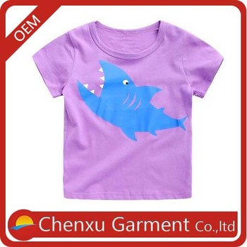 Kids Wear China Girls T-shirt With Chest Print Girls Summer ...
