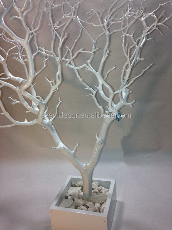 Cheap wholesale 30'' White / Painted Tree Jewelry Tree