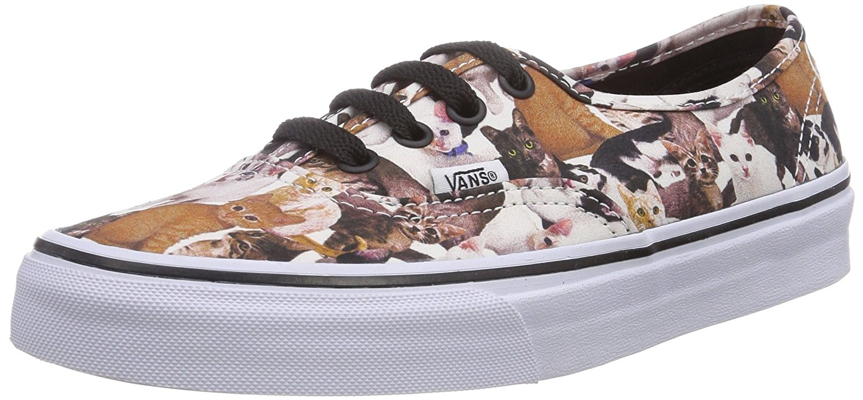 9738659bc9 Vans Unisex Authentic ASPCA Kittens True White Sneaker Size Mens 6.5 Womens  8 Medium
