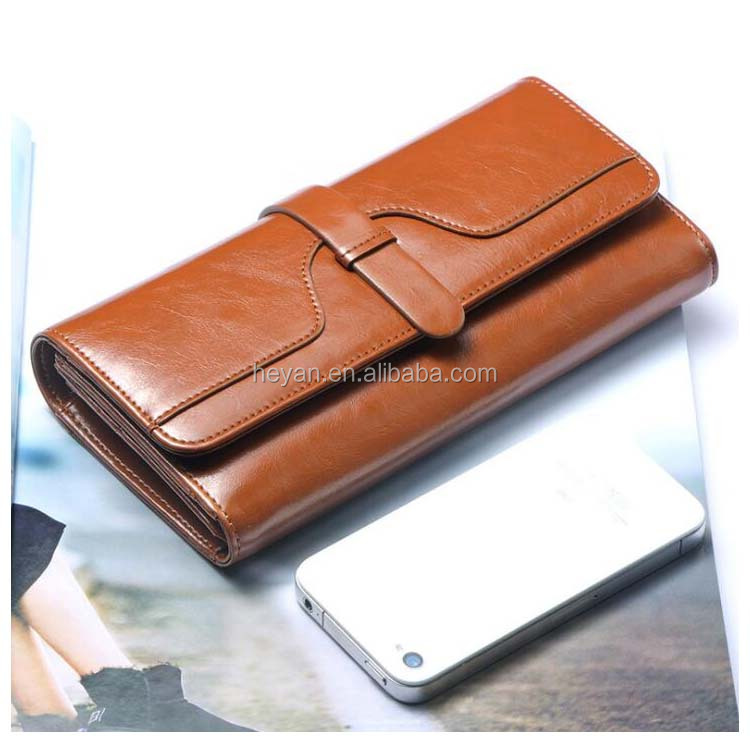Wholesale Fashion Genuine Leather Women Ladies Classic Purse Wallets