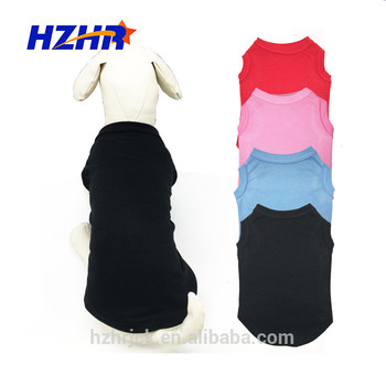 2019 hot sale Pet Clothes customized logo printed blank Dog T Shirts Blank Dog Clothes