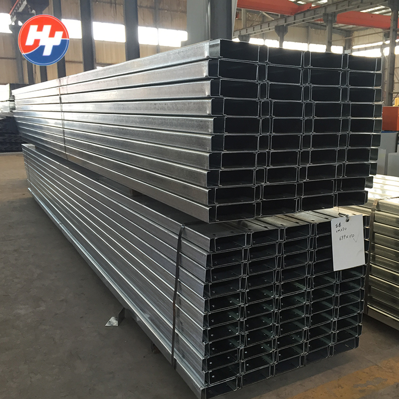 Steel shade structure prefabricated types of c purlin prices