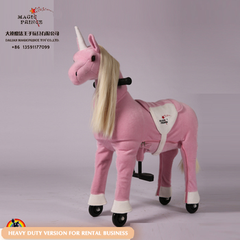 Different colors Mechanical Pony on the cycle, ride on animal toys for adult and kid, amusement rider on toy