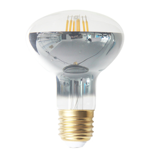 Half Silvered Vintage LED Filament Light R50 R63 R80 2W 4W 6W 8W E27 110V 220V Filament Led Bulb