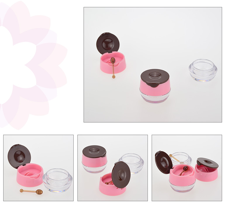 shantou manufacturer pink cosmetic empty plastic luxury lipstick jar with tool