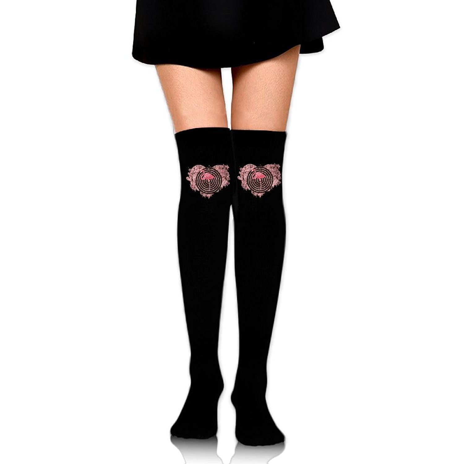 High Elasticity Girl Cotton Knee High Socks Uniform Color Pineapple Women Tube Socks