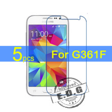 5pcs Ultra Clear LCD Screen Protector Film Cover For Samsung Galaxy Core Prime VE G361F Protective Film + cloth