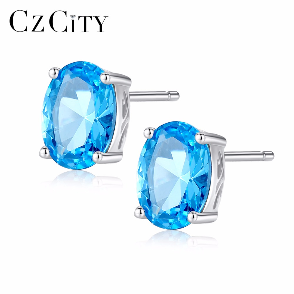 JewelryPalace 0.8ct Cushion Cut Genuine Blue Topaz Marquise Cubic Zirconia Halo Cocktail Stud Earring Necklace Ring 925 Sterling Silver