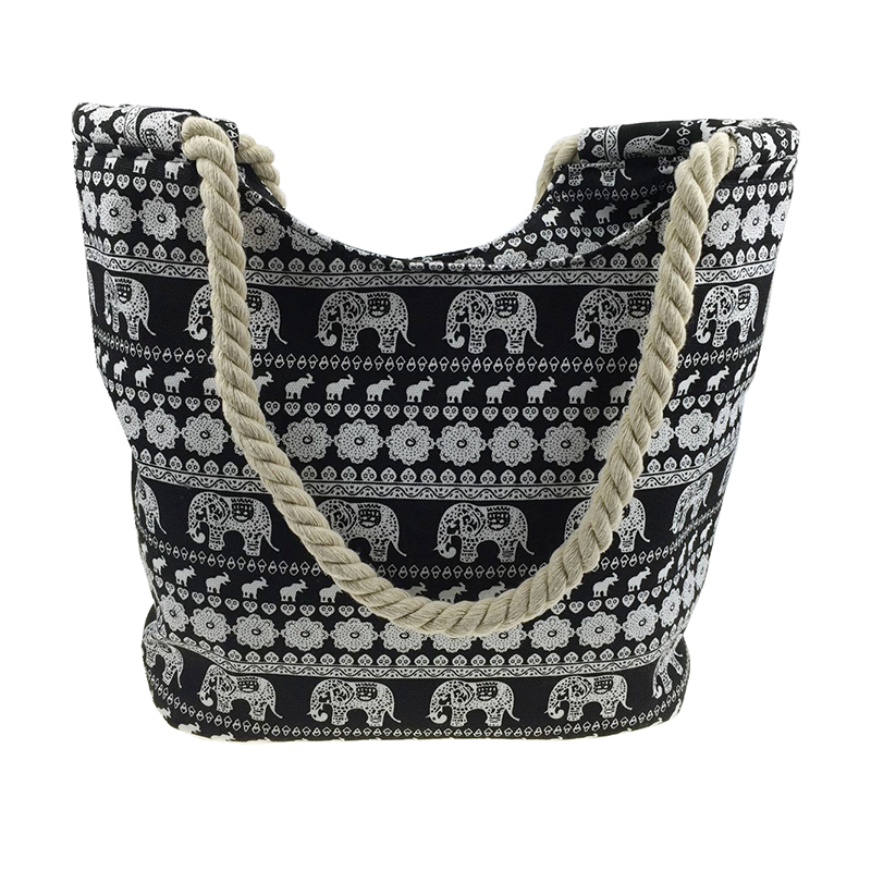 Fashion women handbags national cartoon pattern beach bag canvas zipper <strong>totes</strong> #W-16