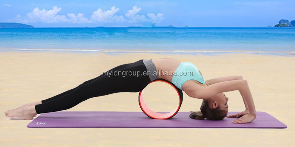 Wholesale Premium ABS Sliding Yoga Balance Wheel Roller Circle with TPE Padding Designed for Stretching and Improving Backbends