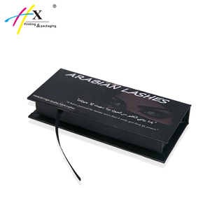 Hot Selling Custom Logo Black Eyelash Packaging Box