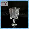 2014 Hot sale antique murano glass vases with glass base wholesale