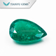 5x7mm dark green nature cut hydrothermal synthetic Colombian swat emerald gemstone