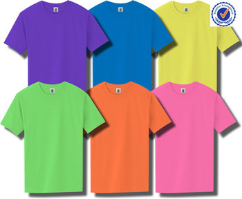 Custom fashion colorful neon t shirts wholesale buy neon for Bulk neon t shirts