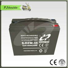 12v 35ah Storage E Bike Battery 6-DZM-35 for mini electric tricycle and scooter