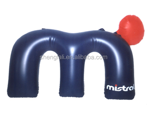 PVC plastic pillow inflatable air neck pillow for promotion