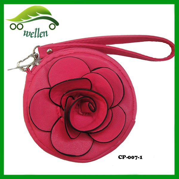 Fashion Flower Shaped Leather Coin Purses
