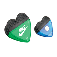 Heart Shape Plastic Clip with Magnet