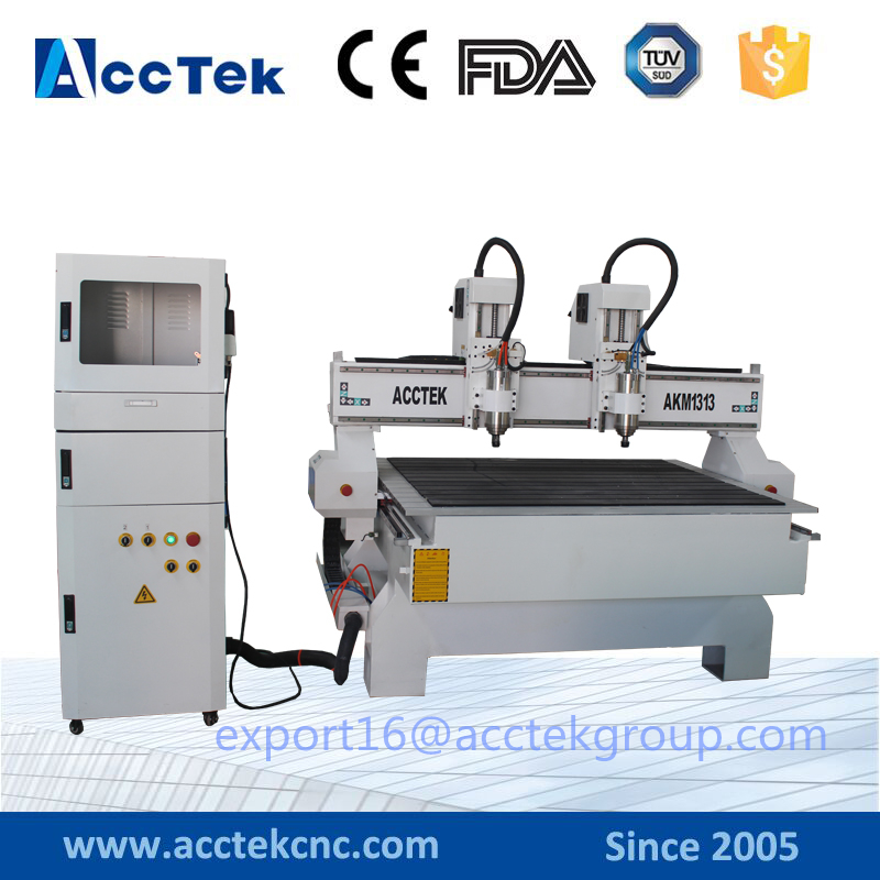 China jinan acctek cnc milling machine 3 axis / 4 axis cnc router for metal / aluminium / PCB 6090 6040 1212 1313 1224