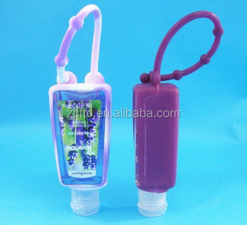 1oz empty hand sanitizer packing bottles with silicon holder