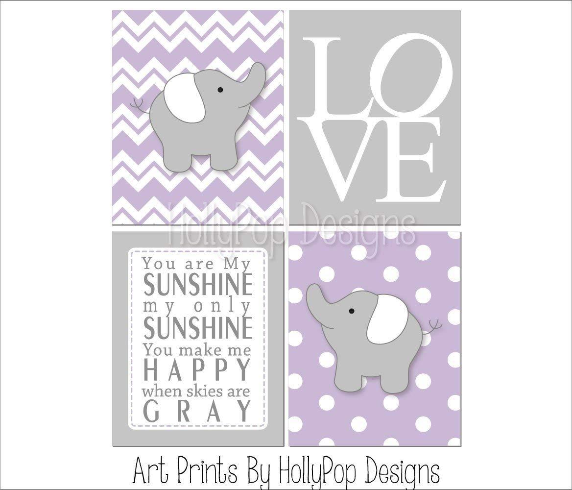 Elephant Nursery Art Baby Wall Decor You