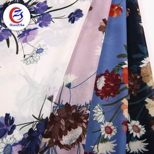 daisy plain polyester georgette plain thick color printed chiffon fabric online india