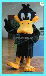 HI CE good price adult daffy duck costume,cosplay duck mascot costume for adult