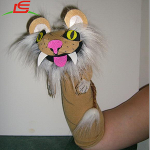custom lion sock hand puppet by Levin